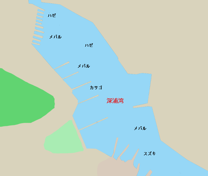深浦湾ポイント図