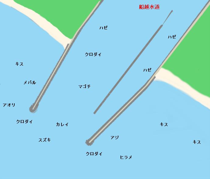 船越水道河口ポイント図