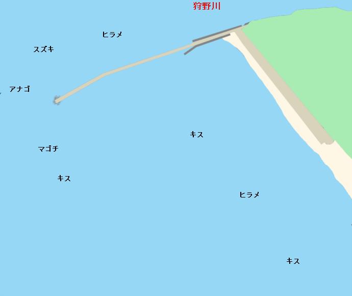 我入道海岸ポイント図