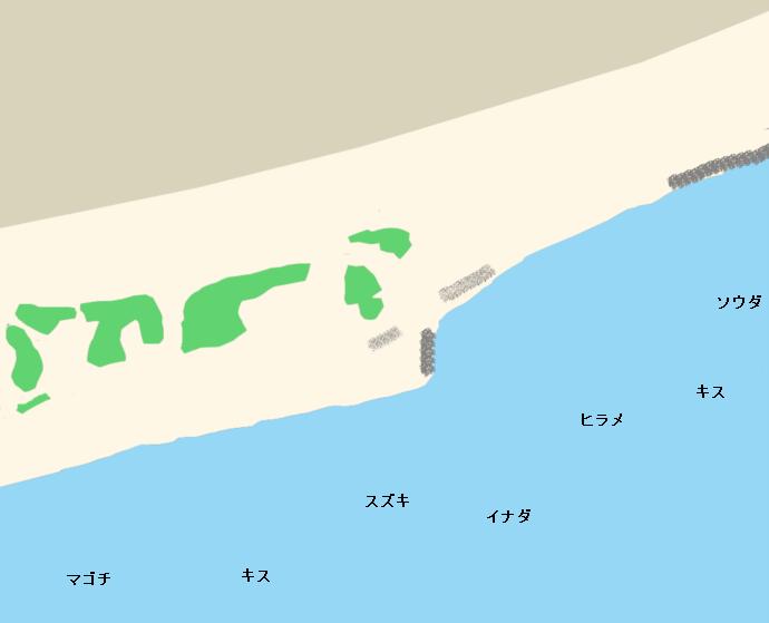 五貫島海岸ポイント図