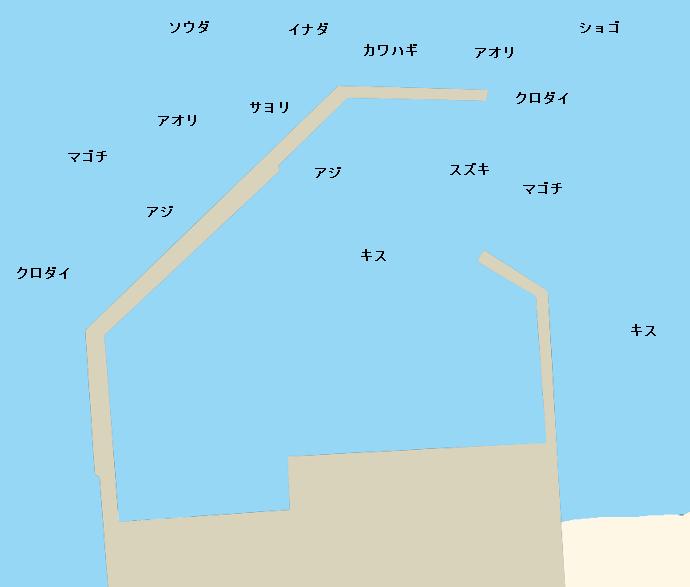 浜田港(浜田堤防)ポイント図
