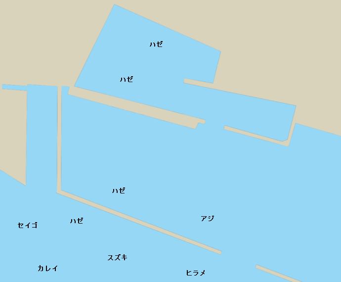 波崎旧港ポイント図