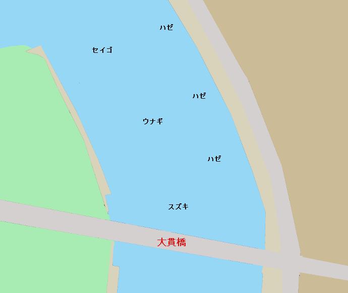 涸沼川大貫橋付近のポイント