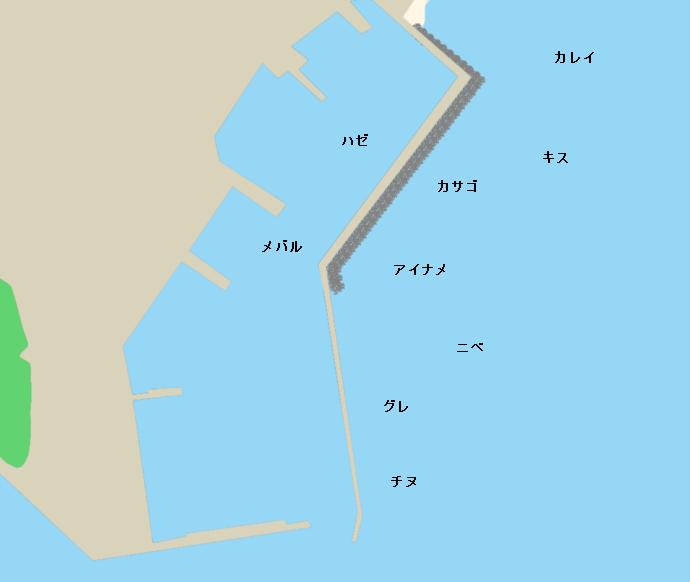 西宝伝漁港ポイント図