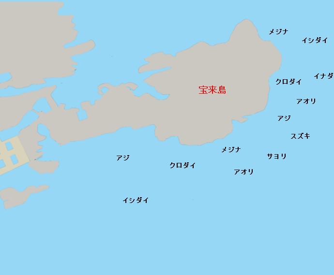 宝来島ポイント図