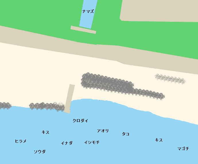 昭和放水路前ポイント図