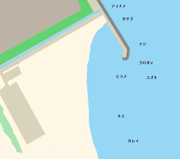 日川浜ポイント図