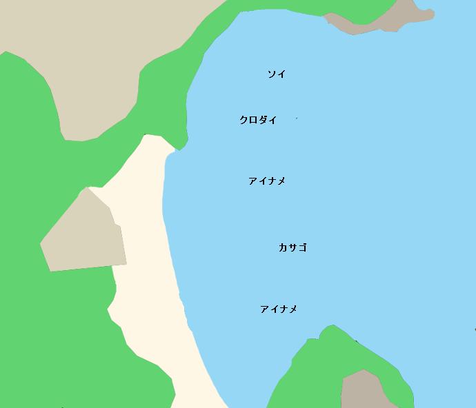 五浦海岸ポイント図