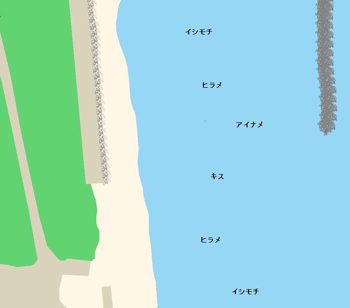 伊師浜海岸ポイント図