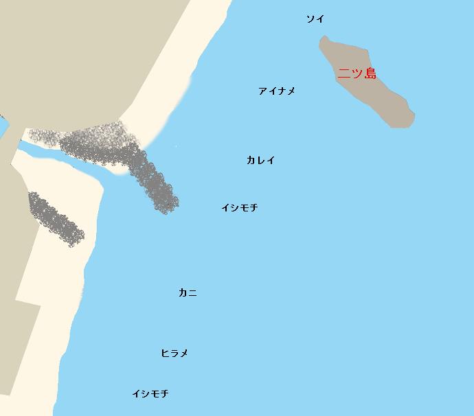 磯原海岸ポイント図