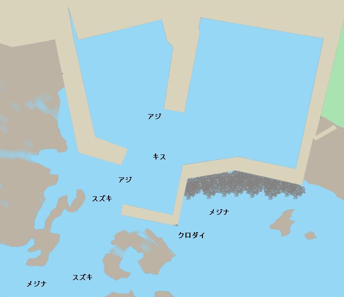 伊戸港ポイント図