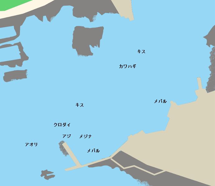 岩井袋港ポイント図