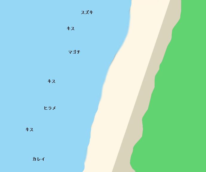 上浜海岸ポイント図