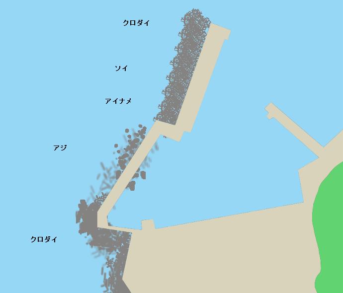 小砂川漁港ポイント図