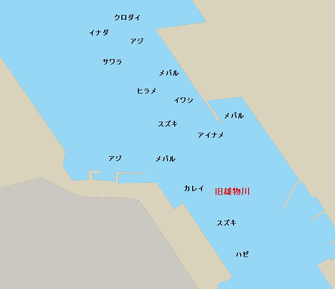 旧雄物川河口ポイント図