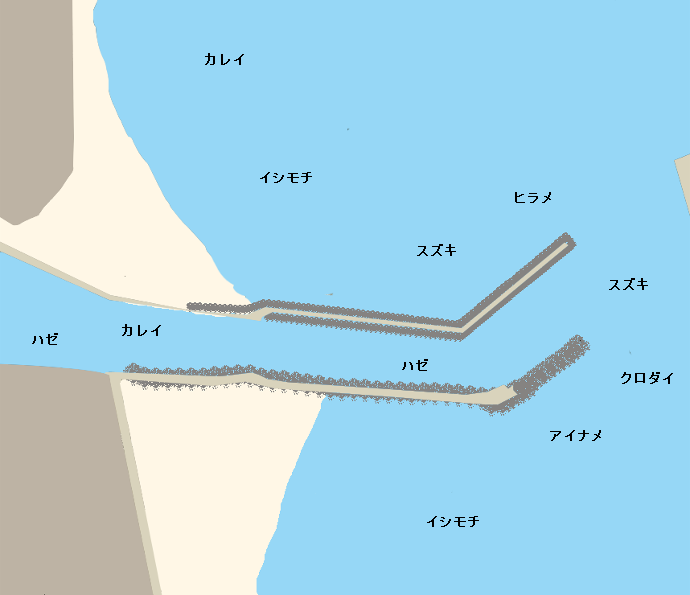 真野川河口ポイント図