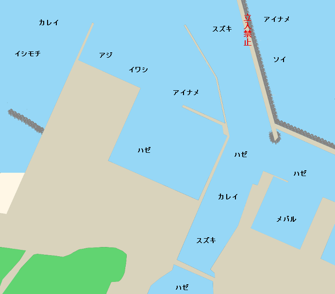 松川浦新港ポイント図