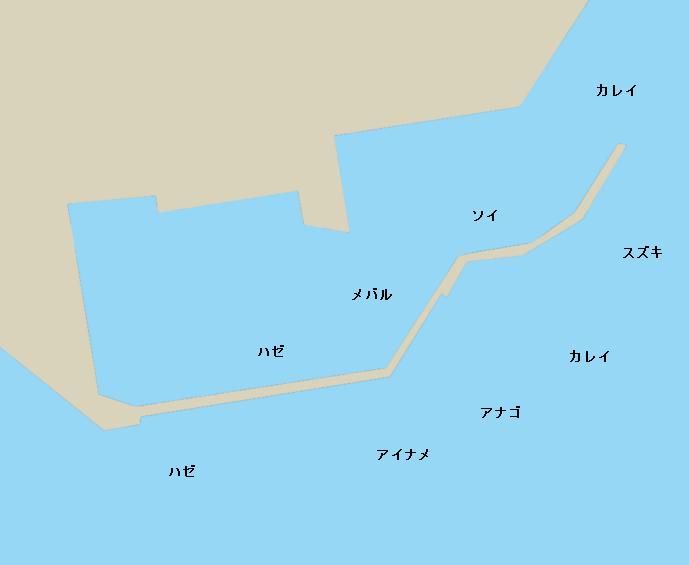 松川浦港ポイント図