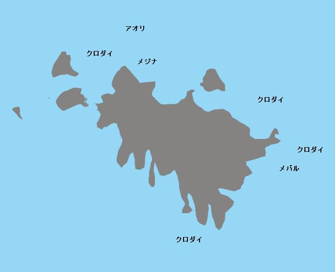 ミサゴ島ポイント図