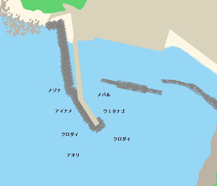 門前漁港ポイント図