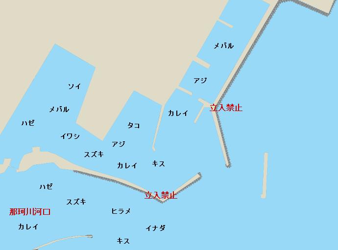 那珂湊港ポイント図
