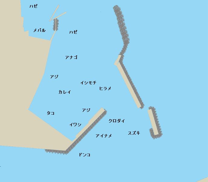 中之作港ポイント図