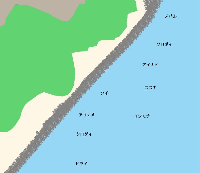 滑川浜ポイント図