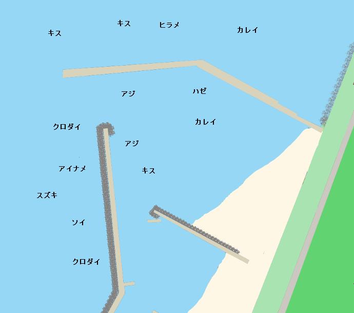 西目港ポイント図