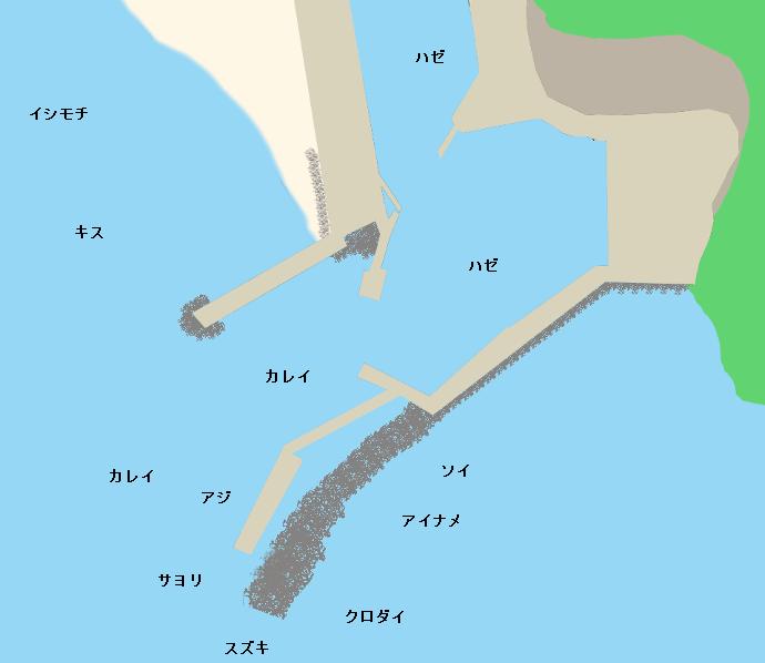 小浜港ポイント図