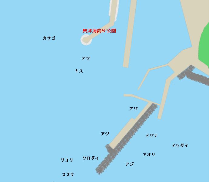 興津東港ポイント図