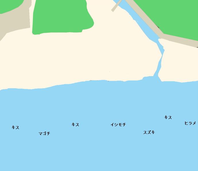 御宿海岸ポイント図