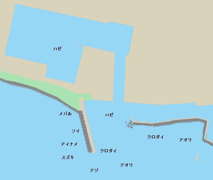 象潟港ポイント図