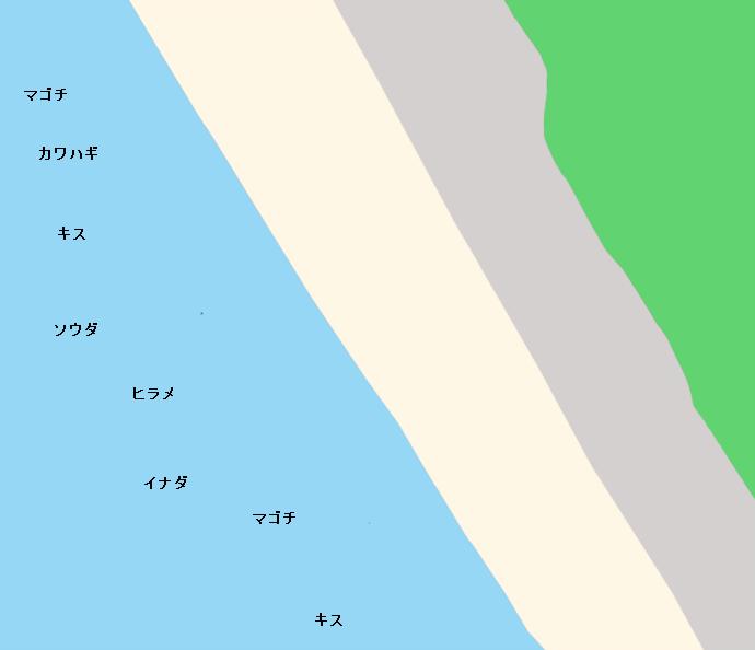 千本浜ポイント図