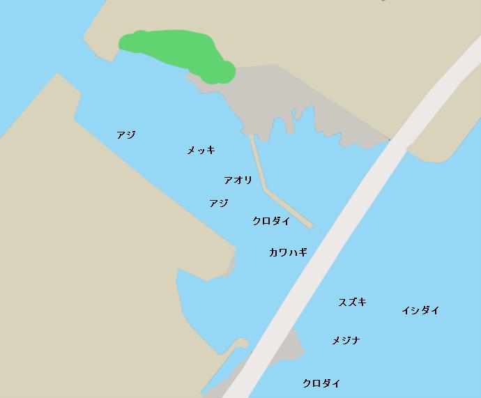 白間津港ポイント図