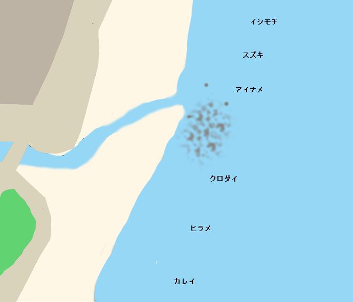塩田川河口ポイント図