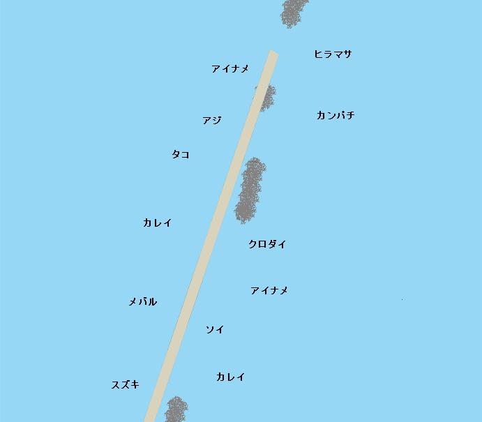 相馬港沖堤防ポイント図