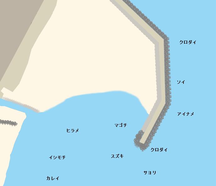 高戸前浜海岸ポイント図