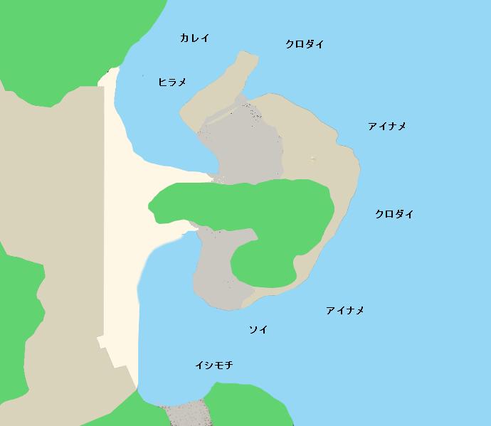 高戸小浜海岸ポイント図