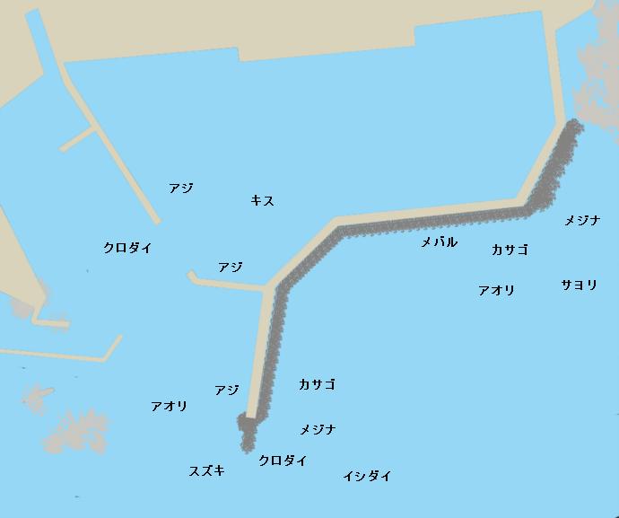 太夫崎港ポイント図