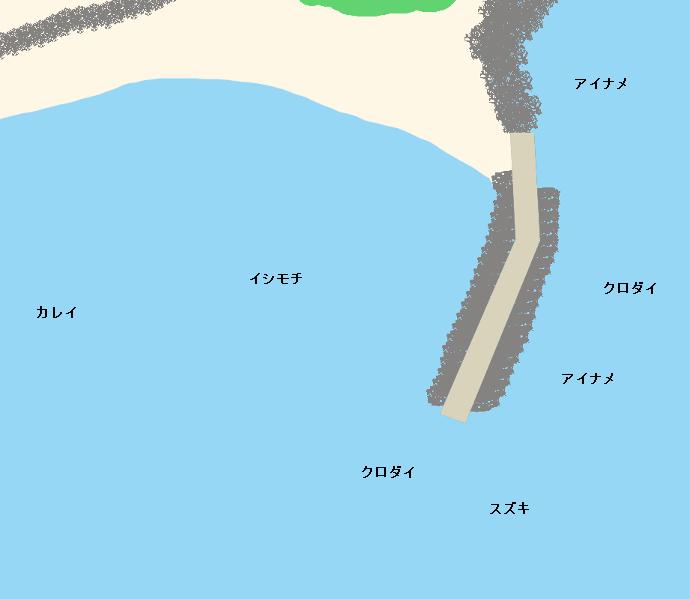 田尻浜堤防ポイント図