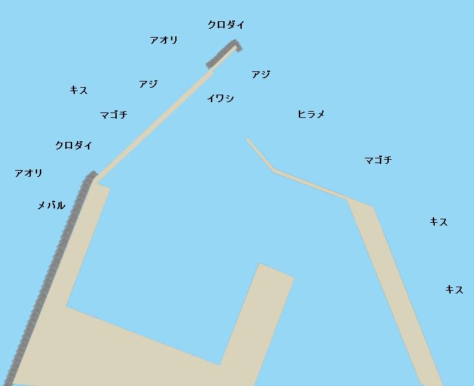 富浦新港(北ケイセン)ポイント図