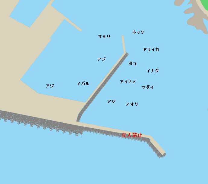 椿漁港ポイント図