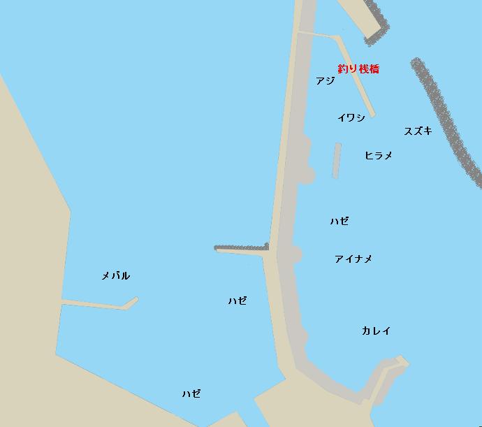 相馬港釣り桟橋付近のポイント