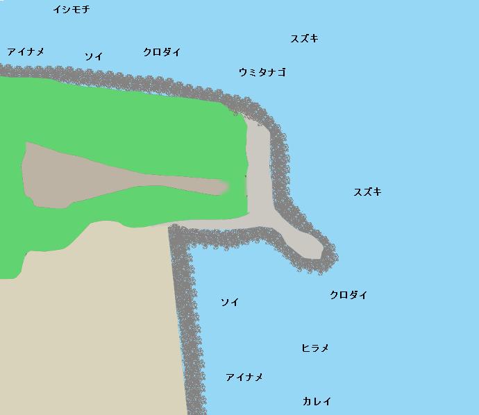 茶屋ヶ岬ポイント図