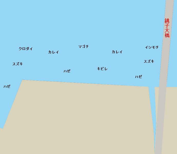 銚子大橋下ポイント図