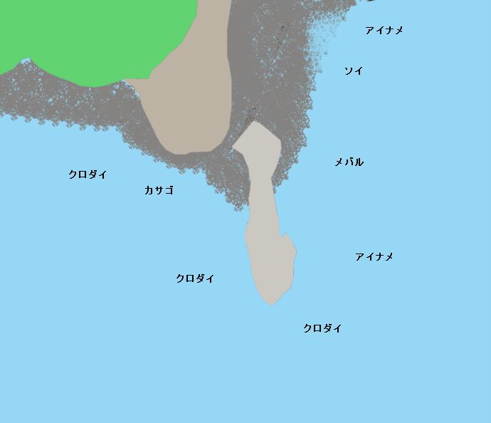 鵜島の鼻ポイント図