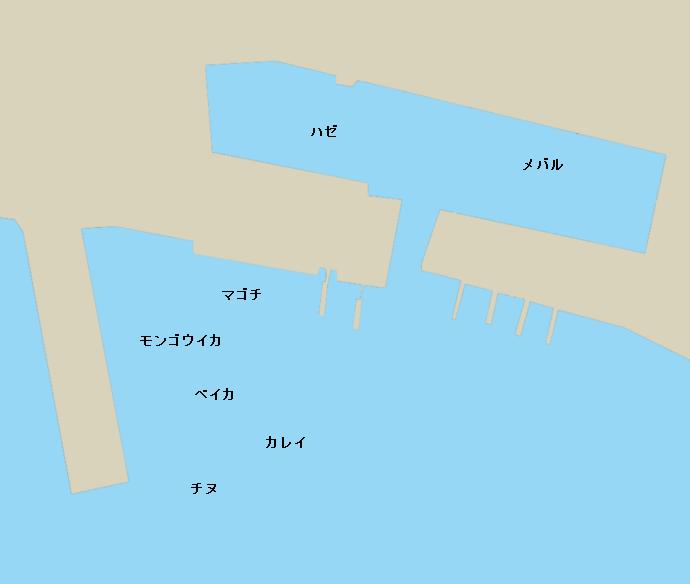 牛窓港ポイント図