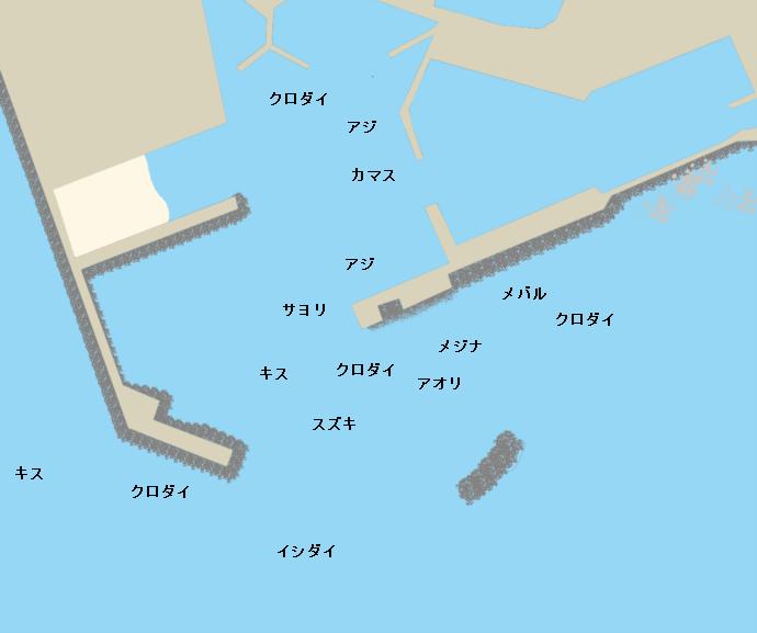 和田港ポイント図