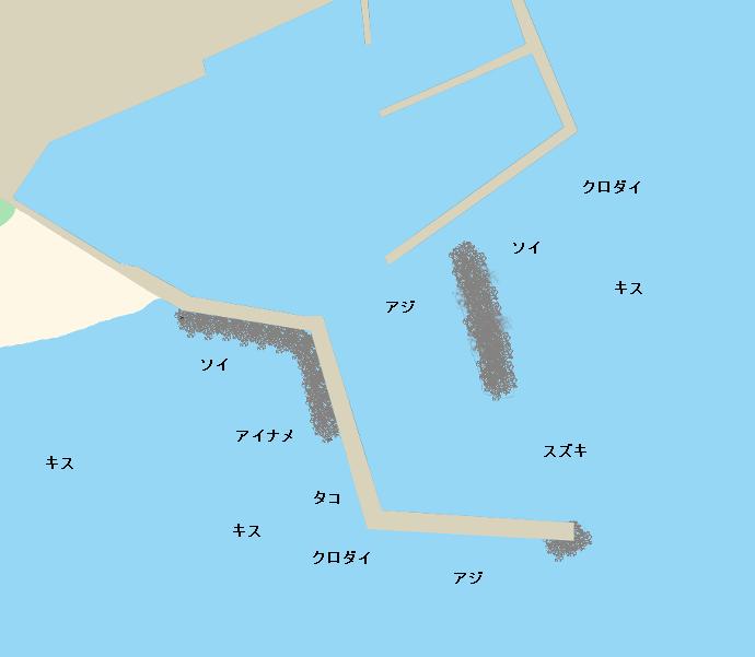 脇本港ポイント図