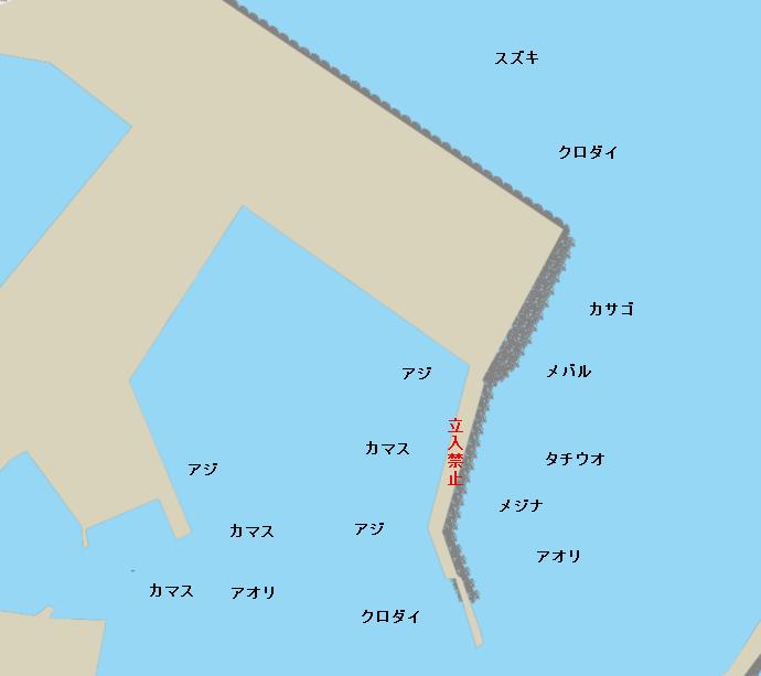 焼津港外港ポイント図